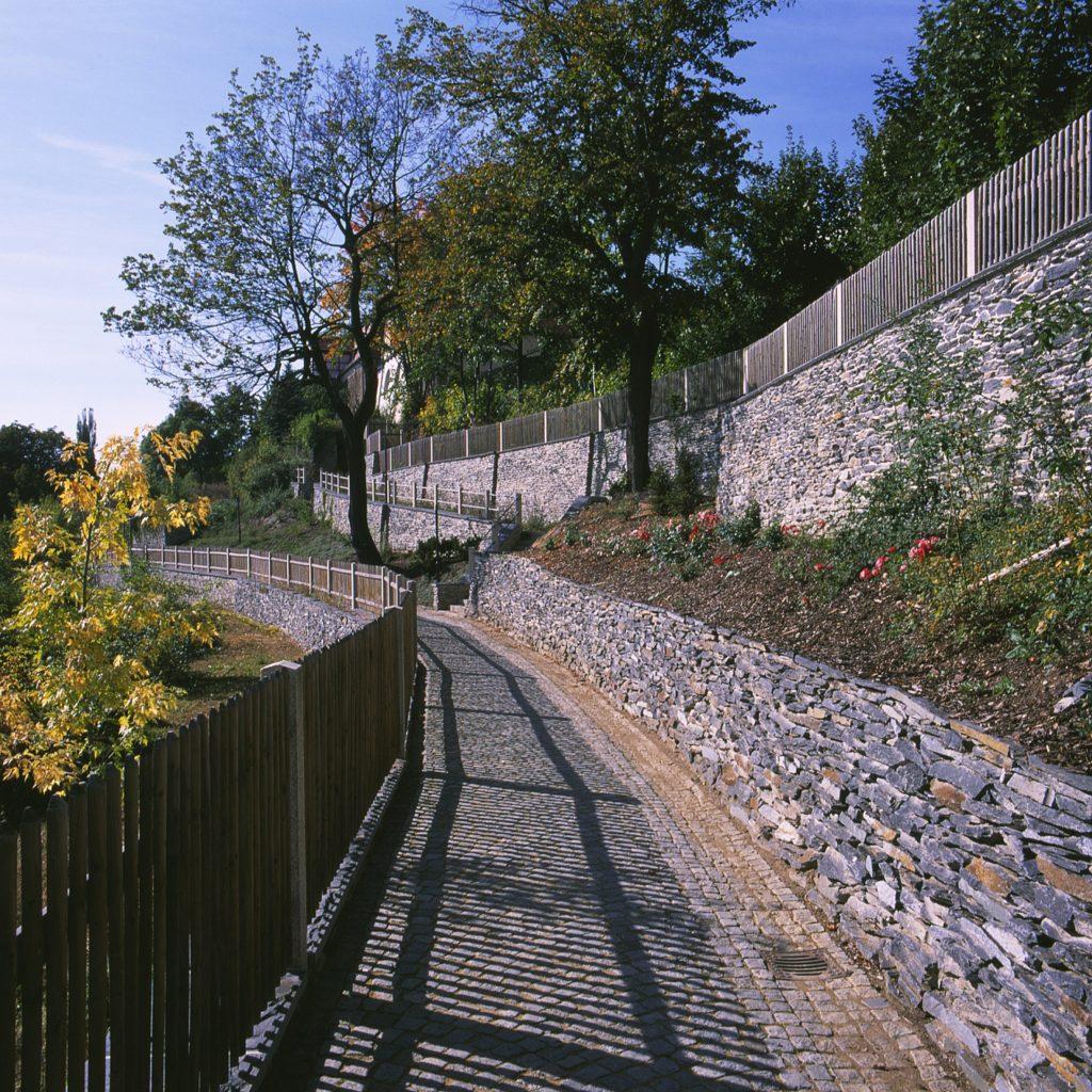 Plauen, Stadtmauer - Bruchsteinmauerwerk