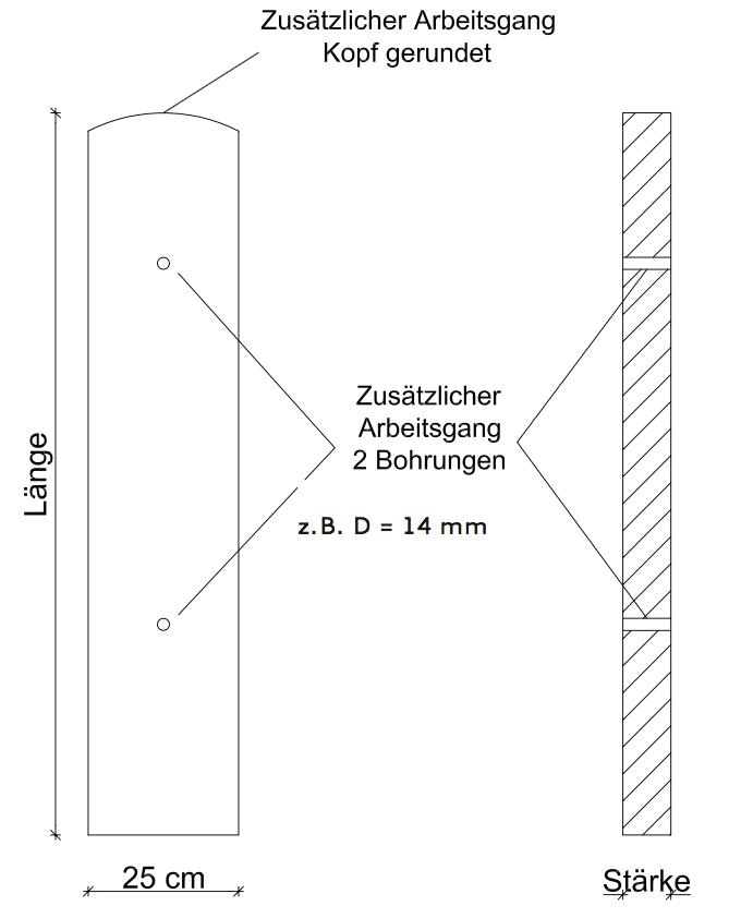 Skizze Gartensäule