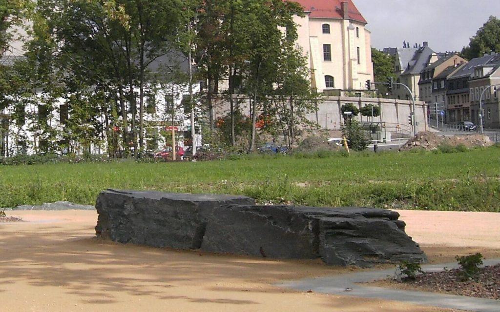 Reichenbach, Landesgartenschau 2009 - Stelen liegend