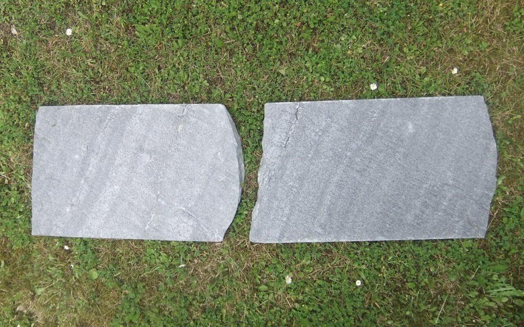 """Trittplatten """"gespalten"""", ca. 33 x 50 cm"""