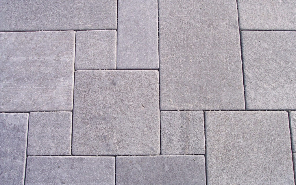 """Bodenplatten im  Römischer Verband - """"antik"""" (diamantgeschliffen & getrommelt)"""