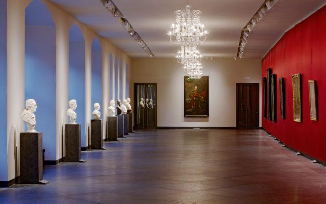 """Dresden, Fürstengalerie in den Staatlichen Kunstsammlungen Dresden – Bodenplatten """"Theumaer Fruchtschiefer"""", Bild: ©David-Brandt.de, ©SKD"""