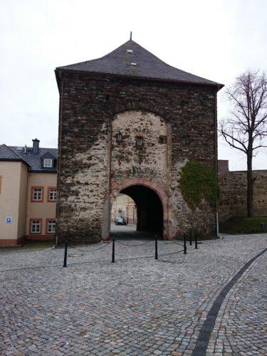 Marienberg, Zschopauer Tor und Stadtmauer – Sanierung Mauerwerk - vorher