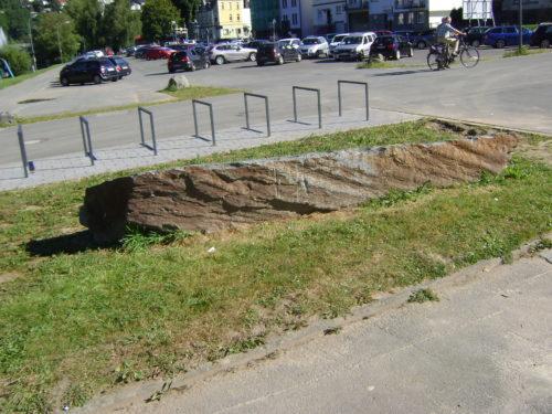 Werdohl, Brüninghaus-Platz - Stele liegend