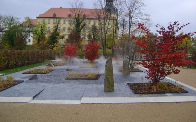 "Zeitz, Schlosspark Moritzburg Zeitz, Lustgarten - Gartenplatten ""gespalten"""