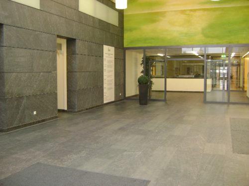 """Dresden, Krankenhaus Friedrichstadt, Haus K - Bodenplatten, Fassadenplatten """"diamantgeschliffen"""""""
